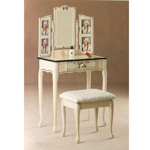 Hand Painted White Photo Vanity Set 4028 (COFS45)