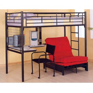 Study Center Twin Loft-Bed 4028BLK(ML)