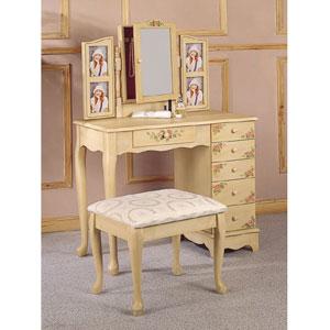 Vanity Table Set in Ivory 4038(COFS)