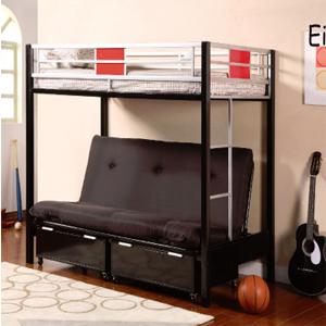 Einstein Twin/Full Bunk Bed 4072(ML)