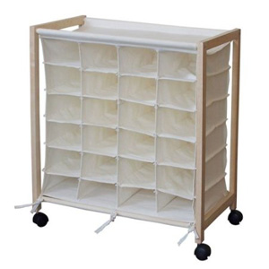 24 Pair Shoe Organizer Cart B001G0909K(AZFS)