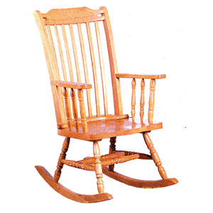 Oak Finish Rocker 4379 (CO)