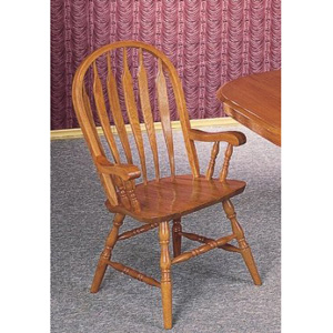 Solid Oak Philadelphia Windsor Arm Chair 4389AN(CO)