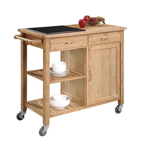 Bamboo Kitchen Island with Granite Top 44015BMB-01-KD-U (LN)