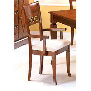 Solid Wood X Back Arm Chair 4425 (CO)