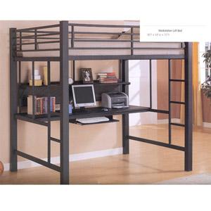 Full Size Workstation Loft Bed 460023 (CO)