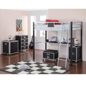 Twin Metal Loft Bed With Desk 460281(COFS)