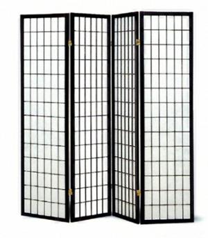 Four panel Black Framed Screen 4624(CO)
