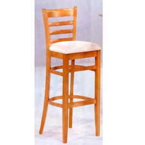 Maple Finish Bar Stool With Cushion Seat 4926 (CO)
