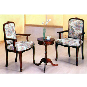 Round Tea w/ French Arm Chairs 5003 (PJ)