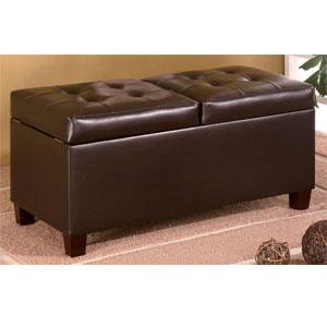 Dark Brown Storage Ottoman 501039 (COFS)