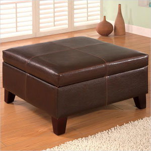 Dark Brown Storage Ottoman 501042 (COFS)