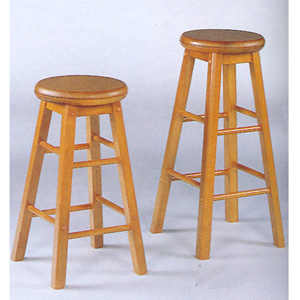 Oak Finish Swivel Seat Stool 536_ (CO)