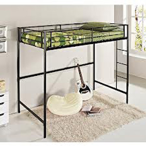 Twin Metal Loft Bed 550404687(WFS158)