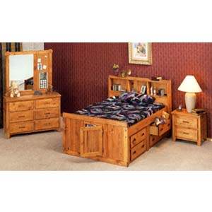 Solid Pine Full Size Bed With Underdresser 5629/30 (CO)
