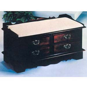 Cherry Finish Cedar Chest W/ Seat Cushion 5669C (IEM)