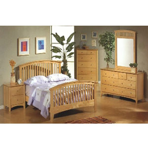 Contemporary Bedroom Set in Maple 56_(CO)