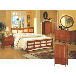 5-Pc Dark Maple Finish Queen Size Bedroom Set 576_ (CO)