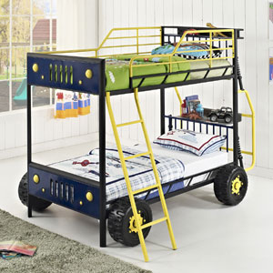 Dune Buggy Twin-over-Twin Bunk Bed 5785(PWFS)