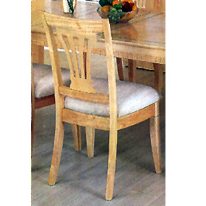 Maple Finished Pierced Back Side Chair 5882 (CO)