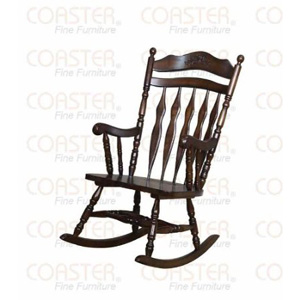 Rocking Chair with Carved Detail in Walnut Finish 600187(COF