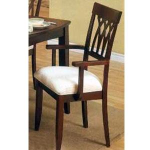 Dimond Back Cherry Finish Arm Chair 6003 (CO)