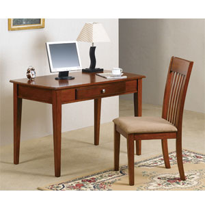 2-Pc Desk w. Keyboard And Chair Set 6137 (WD)