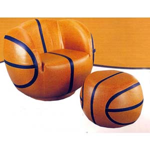 Basketball Chair & Ottoman 62073 (IEM)