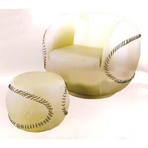 Baseball Chair & Ottoman 62074 (IEM)
