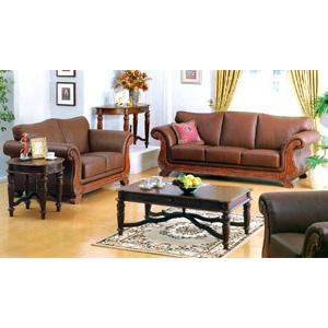 Leather living room group 6287 set iem for Living room group sets