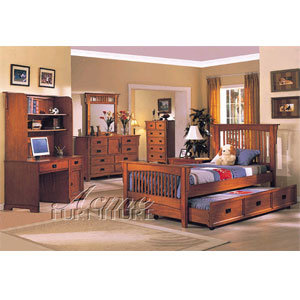 Ridgeville Oak Finish Bedroom Set 6382/6385 (A)