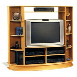 Maple Finish Entertainment Center 6508 (CO)