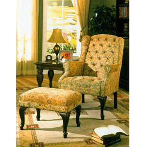 Lindsay Wing Chair/ Ottoman Set 6603 (ML)