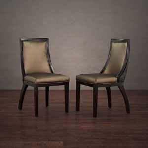 Park Avenue Leather Dining Chair (Set of 2) 6649614(OFS)