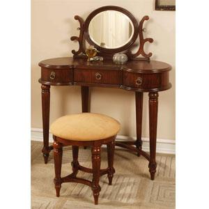 Antique Mahogany Vanity Set 670-290 (PWFS)