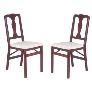 Stakmore Queen Anne Side Chair (Set of 2) 684VCHEBLUSH(CSNFS
