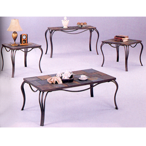 3-P Slate Top Design Coffee/End Table Set 7211 (CO)