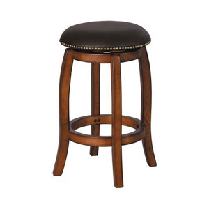 Vintage Oak Swivel Bar Stool 724_(AFS)