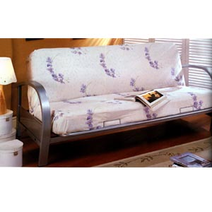 All Metal Futon In Nickel Finish 7251 (CO)
