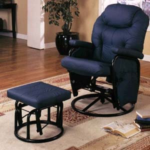 Navy Blue Glider Rocker 7298 (CO)