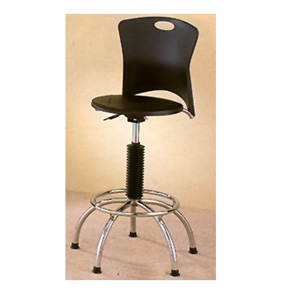 Plastic Seat And Back Chrome Plated Bar Chair 7357 (CO)