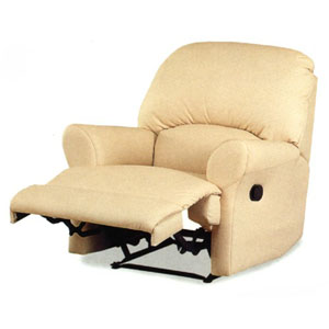 Bone Leather Match Chaise Recliner 7373BNE (CO)