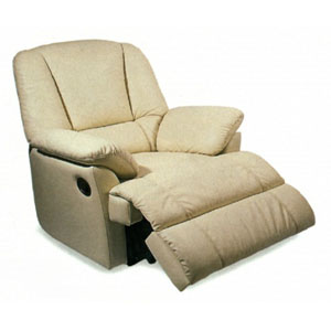 100% Leather Multi Position Chaise Recliner 7521BNE (CO)