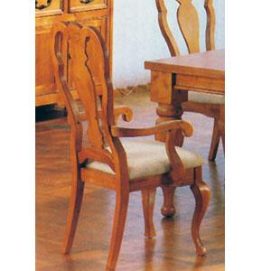 Wood Pine Arm Chair 7733 (A)