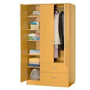 3 Door Wardrobe w/2 Drawers 7803 (ABC)