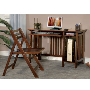 2-Pc Folding Desk And Chair Set 80077_(CO)