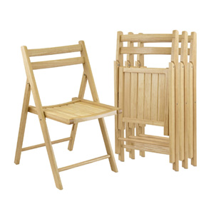 Winsome Wood Folding Chairs Set of 4 89430(AZFS)