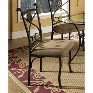 Dark Brown Metal and Beige Side Chair (Set of 4) 848-900(OFS