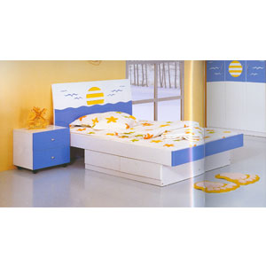 Twin Size Sunrise Theme Bed 852(PF)