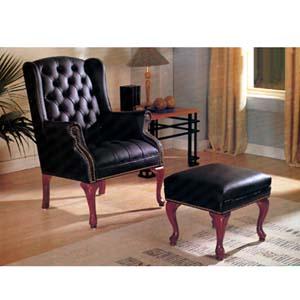 Wing Chair/Ottoman Set  8916 (A)